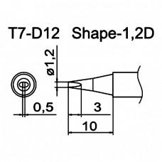 Наконечник Hakko T7-D12