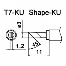 Наконечник Hakko T7-KU