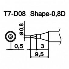Наконечник Hakko T7-D08