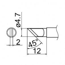 Наконечник Hakko T12-KRZ